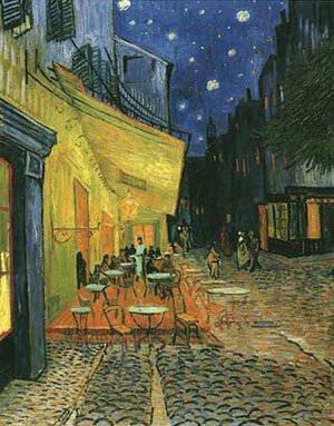Van Gogh Cafe Terras Bij Nacht Origineel