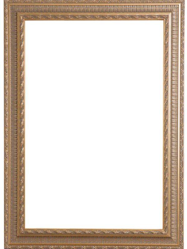 Uitzonderlijk Reproductie Schilderij | Barok Ornament Lijst, Hout (Goud ZG22