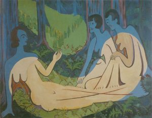 Three Naked in the Forest